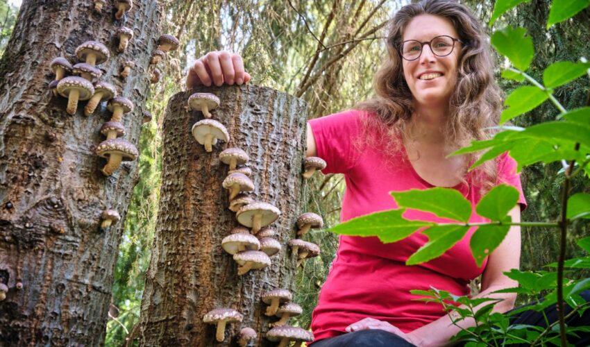 Malika Ciermand in haar voedselbos
